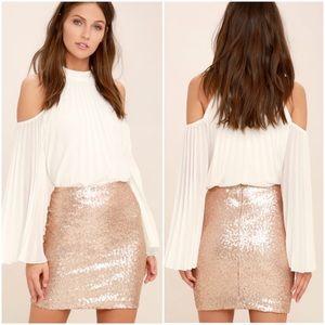 Lulu's Love Me Now Sequin Skirt